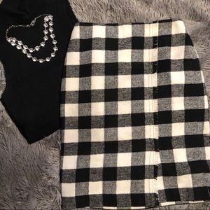 Talbots Wool Blend Fringe Pencil Skirt